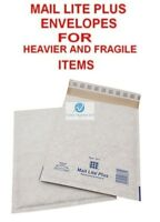 5 D1 White 180x260mm Mail Lite Plus Bubble Envelopes for Heavier Fragile Items