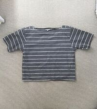 Margaret Howell Structured 100% Cotton Striped Top Size 10