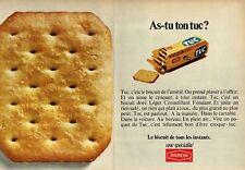 G- Publicité Advertising 1969 (2 pages) Biscuits TUC de Parein