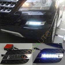 For Mercedes-Benz W164 ML350 2009-2011  White Led Daytime Running Light DRL 2X