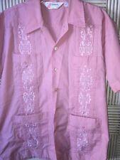 Mens Vintage Romani Permanent Press Embroidered Shirt Size Medium