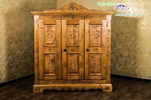 Voglauer Anno 1600 Farmhouse Wardrobe Hallway Cupboard Cottage Antique