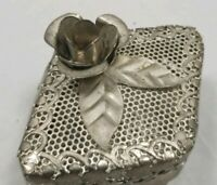Vintage Tin Jewelry Box   -T-
