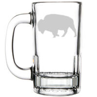 12oz Beer Mug Stein Glass Buffalo
