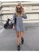 Zara NEW Blue Gingham Mini Dress size XS. Bloggers Dress!!