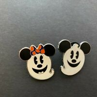 Mickey Mouse and Minnie Mouse as Ghosts - 2 Pin Set Disney Pin 72103