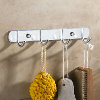 Clothes Hanger Storage Rack Wall Mounted Towel Robe Holder Rack Kitchen Hooks