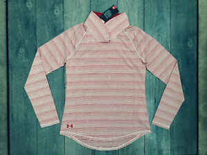 Under Armour Zinger Long Sleeve Pullover Womens Size XS Red Striped NWT $60.00