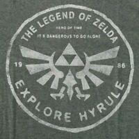The Legend of Zelda Men's XL T-Shirt Explore Hyrule 1986 Licensed Nintendo Game