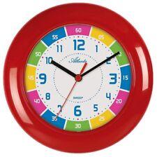 Horloge Murale Enfants Montre pour apprendre Quartz Rouge - Sans tique 4430/1