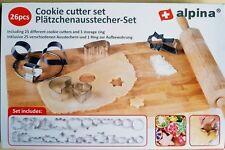 Ausstechformen-Set Ausstecher Keksausstecher Plätzchenausstecher 26 Teile