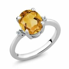 Citrine Heating Sterling Silver Fine Jewellery