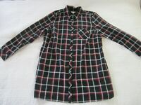 J. Jill Womens Dress Size L Black/Red Plaid Shirt Dress Pockets