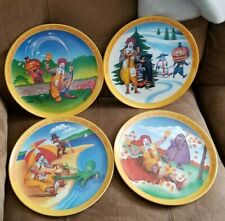 Set of Vintage 1977 Ronald McDonald's Summer Fall Winter Spring Collector Plates