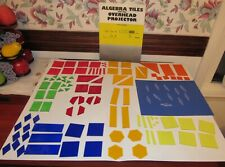 Algebra Tiles for the Overhead Projector 113 Pieces Transparent Booklet Used
