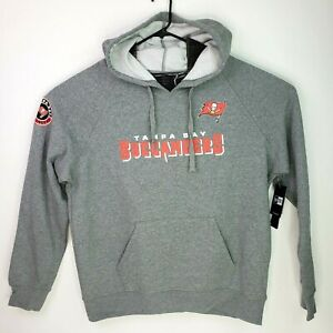 New Era Mens Size XL Gray NFL Tampa Bay Buccaneers Football Hoodie Sweater