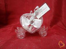Boite à dragée en forme de carrosse à cœur transparent X12