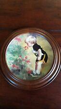 """Donald Zolan's 1986 """"Grandma's Garden"""" Collector Plate in Van Hygan Smythe Frame"""