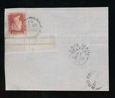 IRELAND 1867 LATE MAIL BELFAST to SCOTLAND + DERRY DUPLEX on PIECE DEC 26th