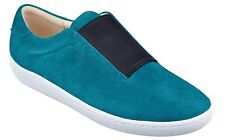 $79 NEW Nine West RUMBA Slip On Suede Sneakers Turquoise Black Shoes 8
