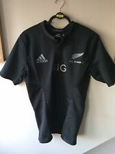 Homme Noir Rugby All Blacks Nouvelle-Zélande Home Player Version shirt UK Taille L