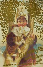 G. B Woodruff Glenwood Range & Heaters Adorable Child With Cat In Tree *W
