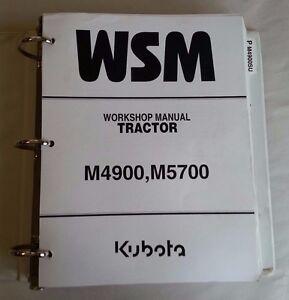 2000 KUBOTA M4900/ M4900SU / M5700 / M5700HD TRACTOR WORKSHOP SERVICE MANUAL