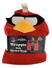 Angry Birds Boys Red Hooded Wrap Poncho Costume One Size Fits Most