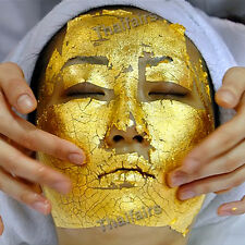 100 pcs 24K GOLD LEAF ANTI WRINKLE FACIAL FACE SPA MASK LIFTS AND FIRMS SKIN