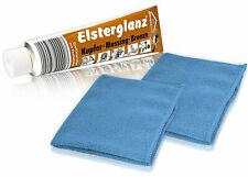 Elsterglanz Kupfer-Messing-Bronze 150 ml + 2 Mikrofasertücher | Polierpaste