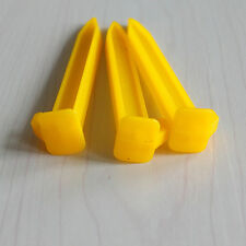 10PCs YELLOW HEAVY DUTY PLASTIC CAMPING & AWNING TENT SAND GROUND PEGS STAKES li
