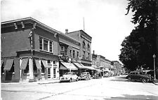 Lancaster WI Bank A&P Store Fronts Street RPPC Postcard