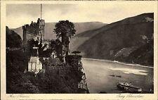 Trechtingshausen AK ~1920/30 Burg Rheinstein Burgruine Ruine Rhein Schiff Ship