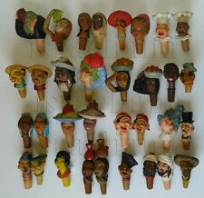 Rare 33 Israel All MAYER 1950s' Gum Bottle Stoppers Corks Ethnic Figures Stopper