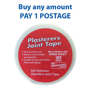 Scrim Tape 50mmX90Mtr Plasterboard Mesh Joint Fibre Glass Self Adhesive ,