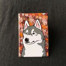 Siberian Husky Alaskan Malamute Magnet Handmade Dog Gift and Seasonal Home Decor