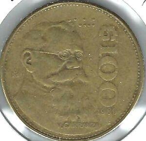 1989 Mexico 100 Pesos President Venustiano Carranza Coin!