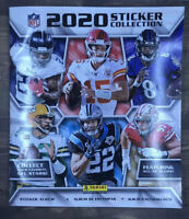 2020 Panini NFL Sticker Collection Football Album With 4 Sticker Packs