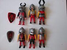 Playmobil rote Ritter Drachenburg Drachenritter 6 Figuren zum Drachenturm