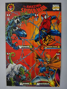 Marvel 1st Edition 1994 The Amazing Spider-Man Promo Sheet Uncut 4 Cards - NEW