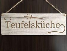 Türschild Deko Landhaus Vintage Shabby Retro Teufelsküche Küche Dekoschild