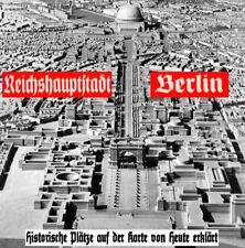 Stadtplan Berlin 1933 - 1945 Karte NS Faltplan WW2 2.WK Führer Bunker DR 3.Reich