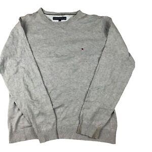 Tommy hilfiger jumper For Men's, Vintage Designer Jumpers,Grey Colour, Large.