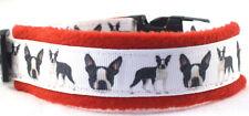 Hundehalsband Boston-Terrier Größe S  30-35  cm Halsumfang