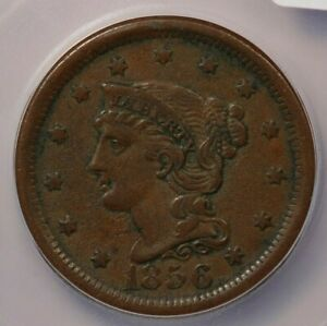 1856-P 1856 Braided Hair Cent ICG EF40 XF40 Details Upright 5