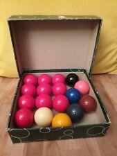Vintage Belgian Aramith Snooker Balls Set Box