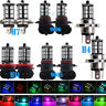 2x 9005 RGB H1 H3 H4 H7 H11 HB4 Auto Car Headlight Fog Bulb Light Remote Control