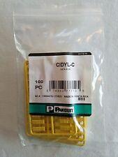 CIDYL-C PANDUIT Plastic Snap-In Port Identifier Mini-Com Data Icon Yellow 100