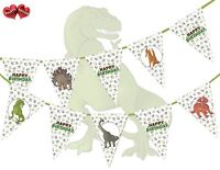 Jurassic Collection - Dinosaurs Assorted Happy Birthday Bunting Banner 15 flags