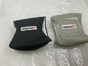 wegreeco Washable Male Dog Belly Wrap - Pack of 2 - (Assorted Colors,XXS)